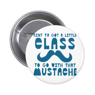 Moustache 2 Inch Round Button