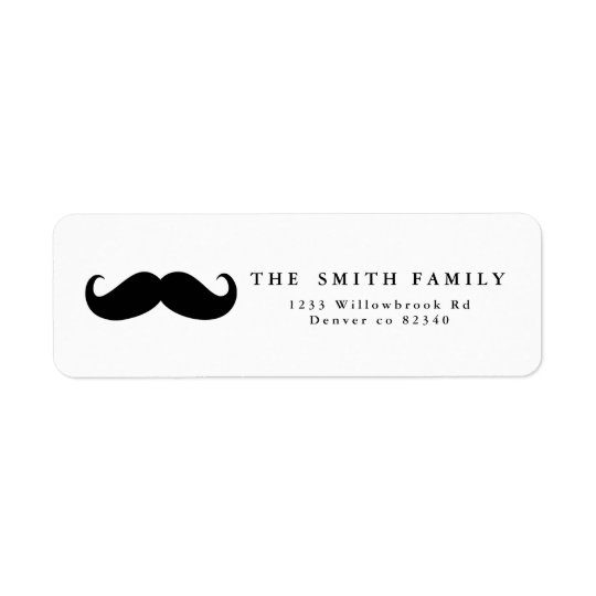 Moustache Address Label