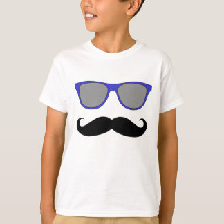 Moustache and Blue Sunglasses Humour T-Shirt