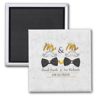 Moustache and bow for Mr and Mr Magnet
