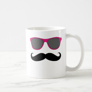 Moustache and Pink Sunglasses Humour Coffee Mugs
