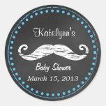 Moustache Baby Shower Favour Sticker