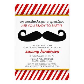 Moustache Birthday Invitation