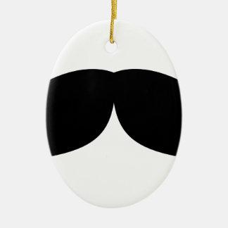 moustache ceramic ornament