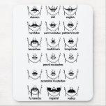 Moustache Chart Mouse Pad