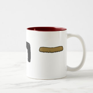 MOUSTACHE CUP! Two-Tone COFFEE MUG