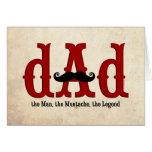Moustache Dad Card