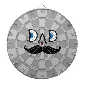 Moustache de hippie de papa, grise jeux de fléchettes