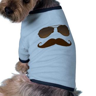 Moustache de lunettes de soleil t-shirts pour chien