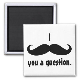 Moustache disguise funny mustache facial hair square magnet