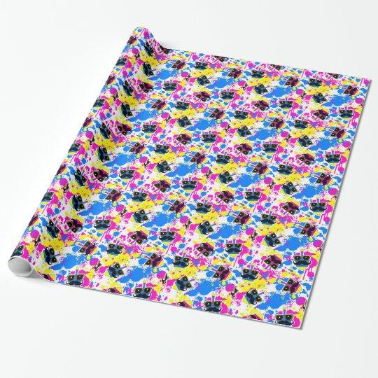 Moustache Dreidel Wrap (Pink)