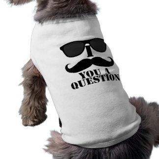 Moustache drôle d I vous lunettes de soleil d un n T-shirts Pour Toutous
