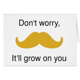 Moustache encouragement greeting card