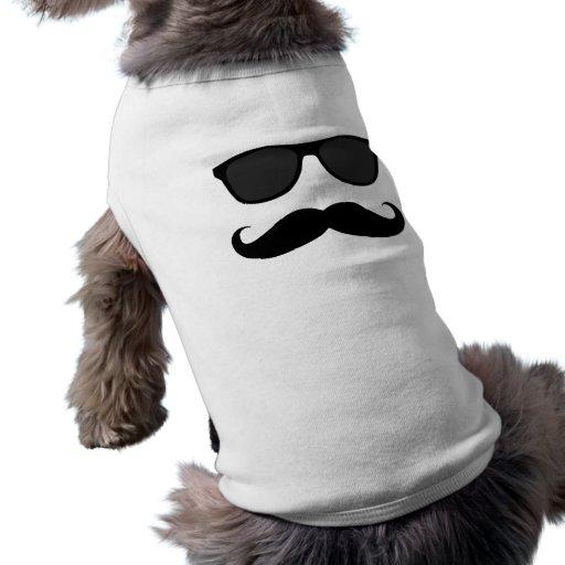 Moustache et cadeau noirs d'humeur de lunettes de  vêtement pour chien