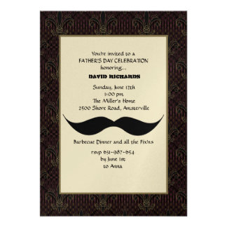 Moustache Father's Day Invitation