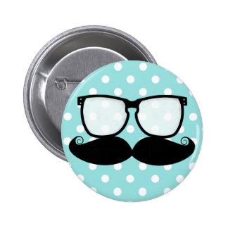 Moustache Flair Button