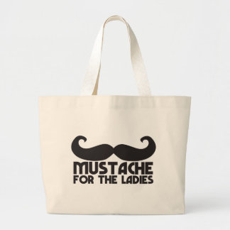 Moustache for the ladies jumbo tote bag