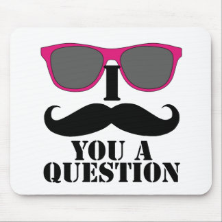 Moustache Humor with Pink Sunglasses Mouse Pad