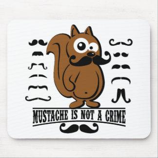 moustache is not a crime mouse pad