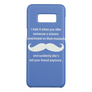 Moustache joke Case-Mate samsung galaxy s8 case