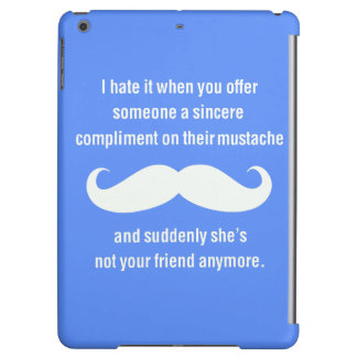 Moustache joke iPad air cover