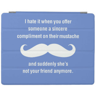 Moustache joke iPad cover