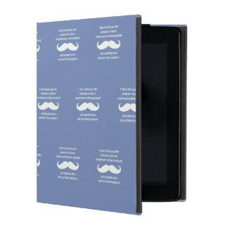 Moustache joke iPad folio case