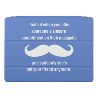 Moustache joke iPad pro cover