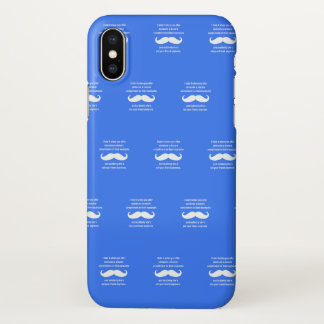 Moustache joke iPhone x case