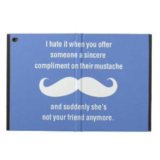 Moustache joke powis iPad air 2 case