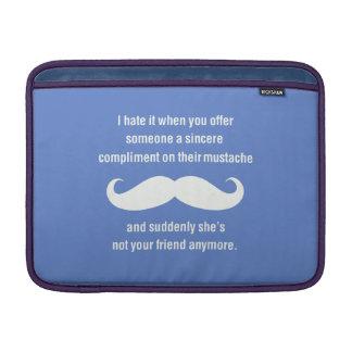 Moustache joke sleeve for MacBook air