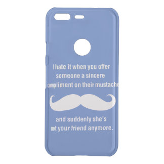 Moustache joke uncommon google pixel case