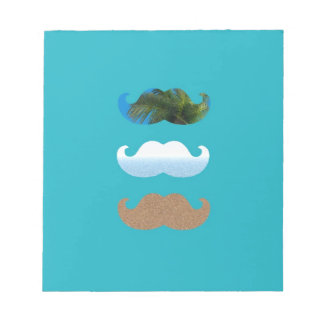 Moustache.. Life's A Beach! Notepads
