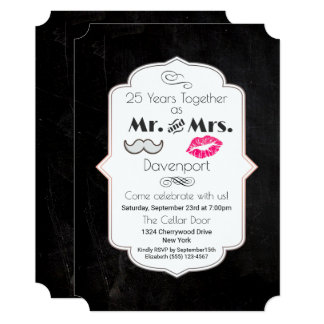 Moustache & Lips Mr. & Mrs. - Anniversary Card