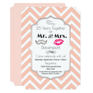 Moustache & Lips Mr. & Mrs. - Anniversary Card