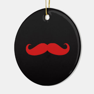 moustache love ceramic ornament