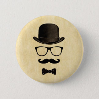 Moustache Man 2 Inch Round Button