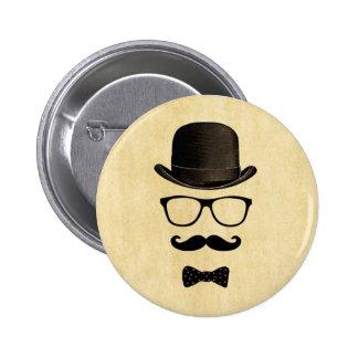 Moustache Man 2 Inch Round Button
