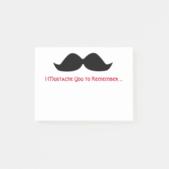 Moustache Memo Sticky Notes