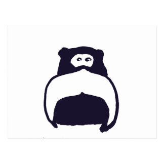 Moustache Monkey Postcard