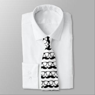 Moustache Nerd Glasses Tie