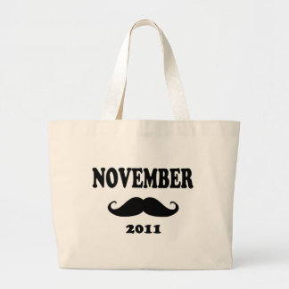 Moustache November 2011 Large Tote Bag