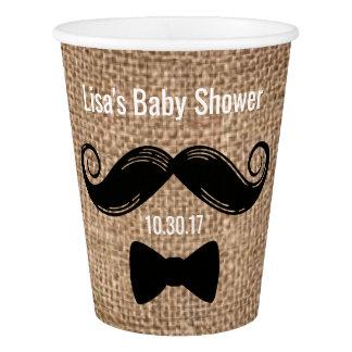 Moustache Paper Cups | Rustic Burlap Party Ideas