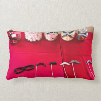 Moustache Party And Lollies Throw Pillow