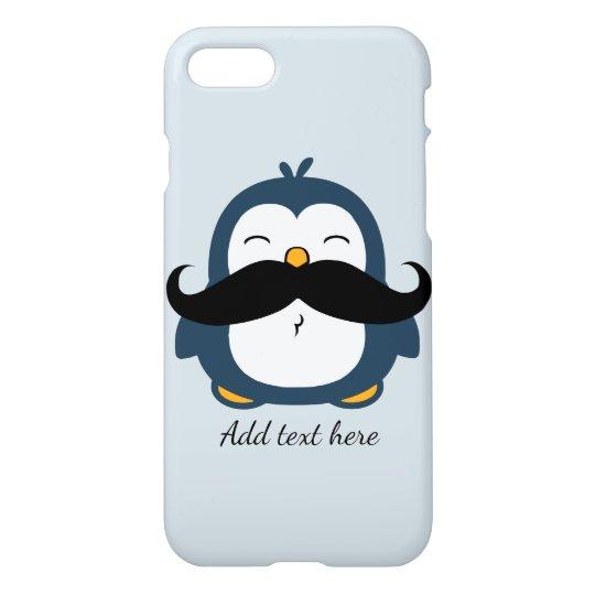 Moustache Penguin Custom Text iPhone 7 Case