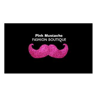 Moustache rose de Bling (graphique de Carte De Visite Standard