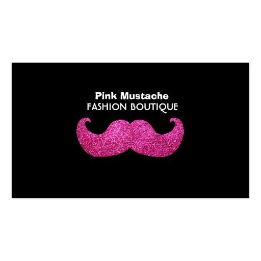 Moustache rose de Bling (graphique de scintillemen Carte De Visite