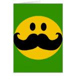 Moustache Smiley (Customizable background colour)