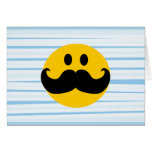 Moustache Smiley Greeting Cards