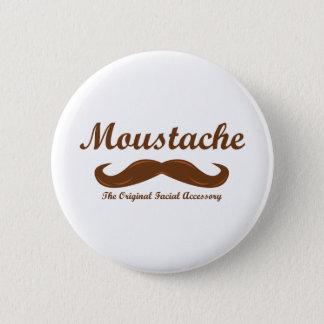 Moustache - The Original Facial Accessory 2 Inch Round Button